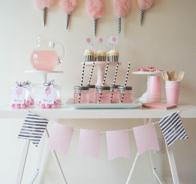 Fiesta infantil de algodón de azúcar: ideas para decorar