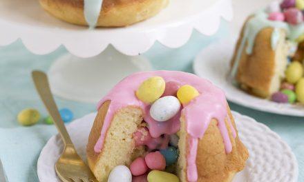 Mini tartas de pascua con sorpresa: bizcocho bundt