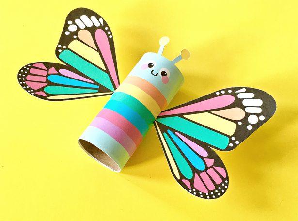 Manualidades de papel para niños: Mariposa de colores