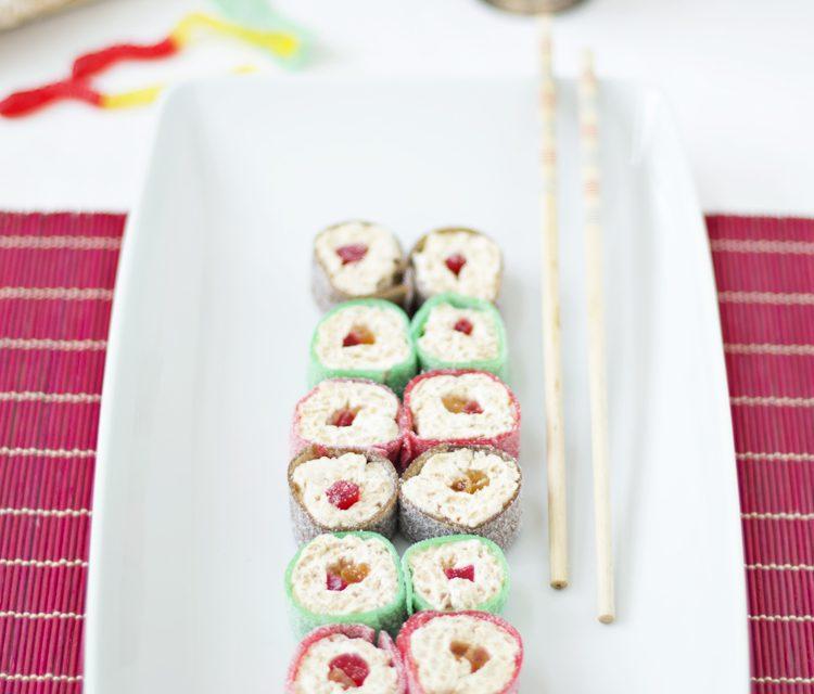Sushi para niños con chucherías: recetas infantiles originales