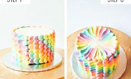 Tarta de arco iris para fiesta de cumpleaños: recetas infantiles