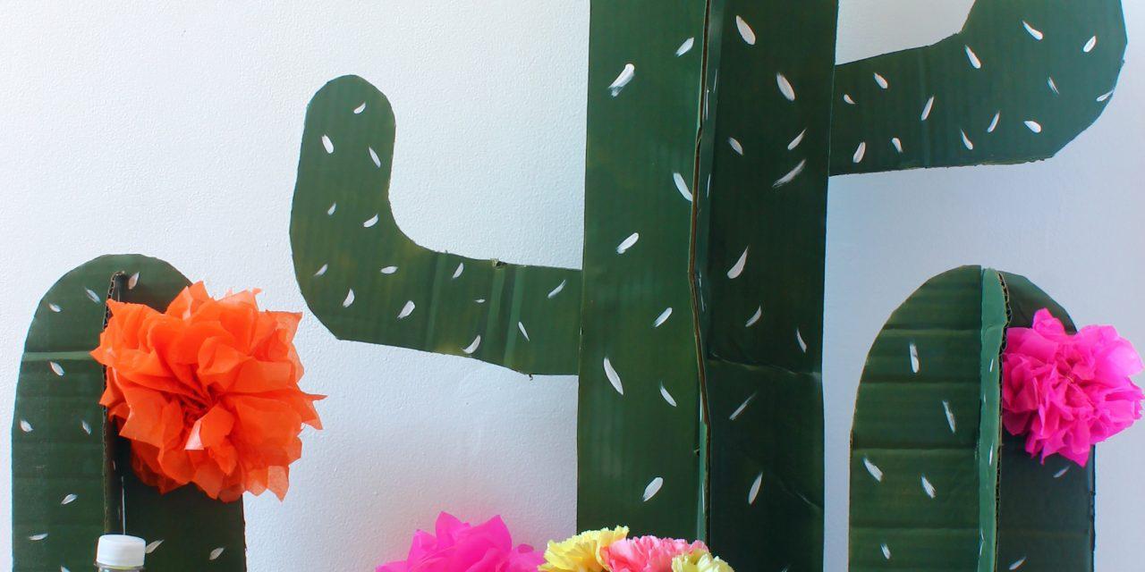 Decorado DIY para fiesta infantil de cactus