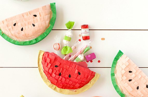 Piñata casera muy original: ¡una sandía!