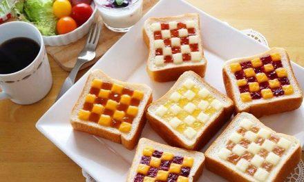 Desayunos divertidos con mermelada y mantequilla