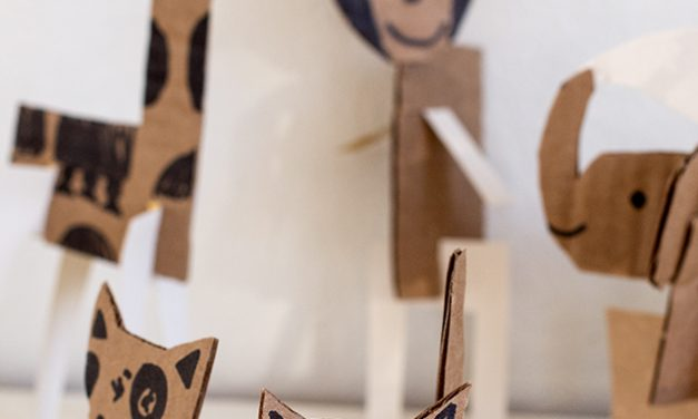 Animales de cartón: ¡manualidades para niños recicladas!