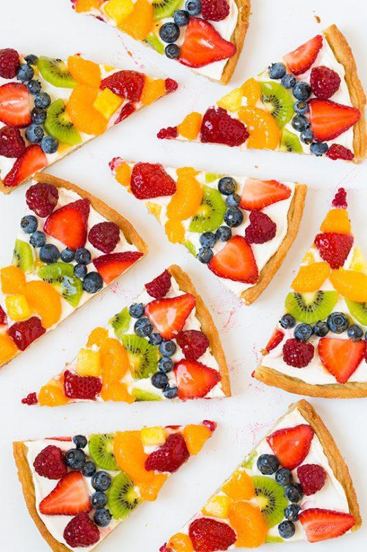 Pizza de frutas para ni os meriendas infantiles - Comidas de cumpleanos infantiles ...