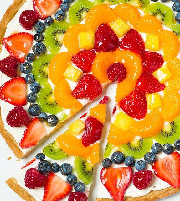 Pizza de frutas para niños: meriendas infantiles saludables