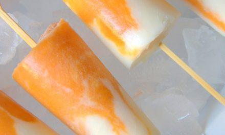 Helados de melocotón y yogur caseros