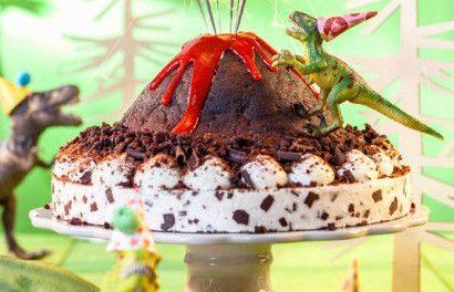 Ideas de tartas de chocolate de dinosaurio