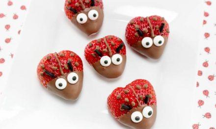 Mariquitas de fresa y chocolate para fiestas infantiles: ¡qué ricas!