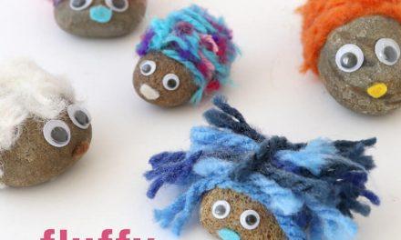 Manualidades para niños: ¡piedras peluditas!