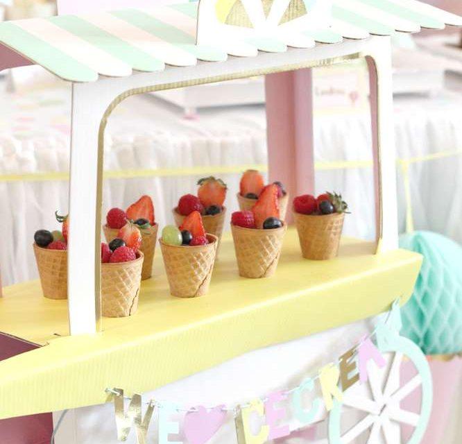 Fiesta temática para bebés: ¡el carrito de los helados ya está aquí!
