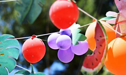 Ideas para preparar una fiesta temática de frutas: ¡cuántos colores!