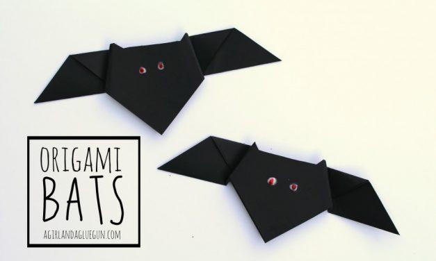 Murciélagos de papel: manualidades de Halloween
