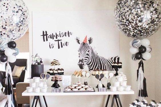 Ideas para fiestas infantiles en blanco y negro: tendencia muy elegante