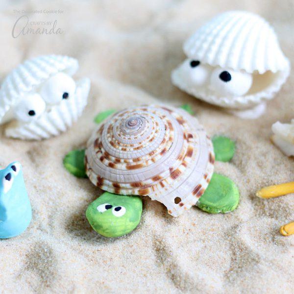 Animales marinos para niños: manualidades divertidas en las vacaciones