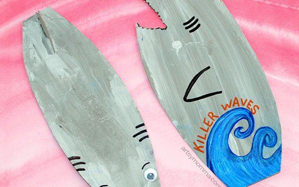 Marcapáginas de verano: tiburones