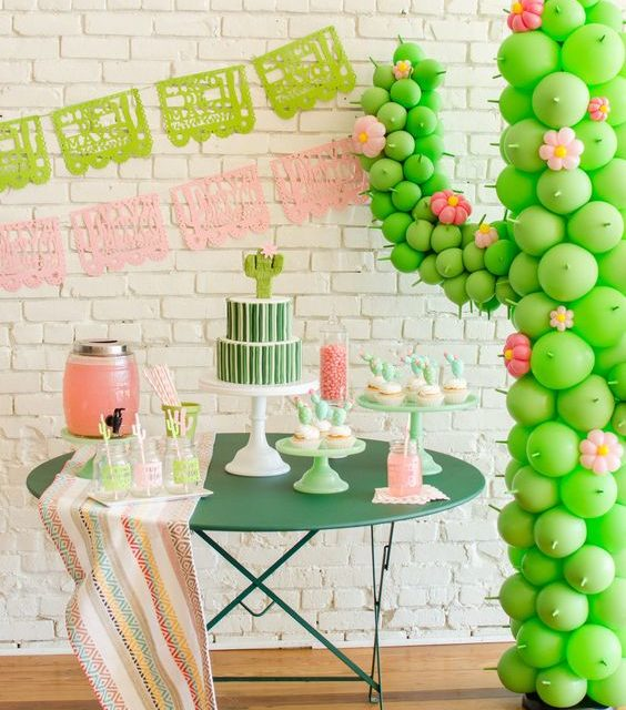 Tips para organizar una Fiesta Cactus