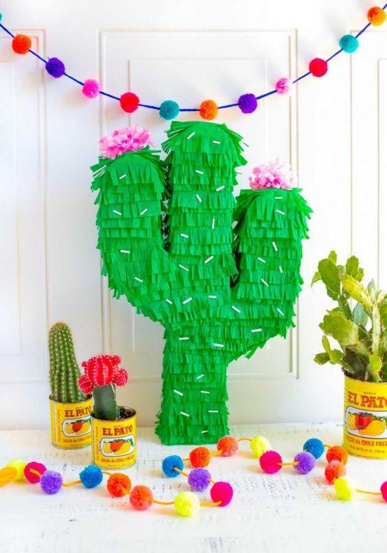 fiesta cactus decoración