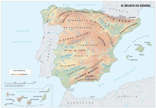 mapas físicos España