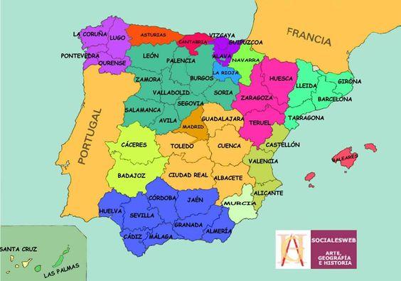 Mapas descargables de España para niños