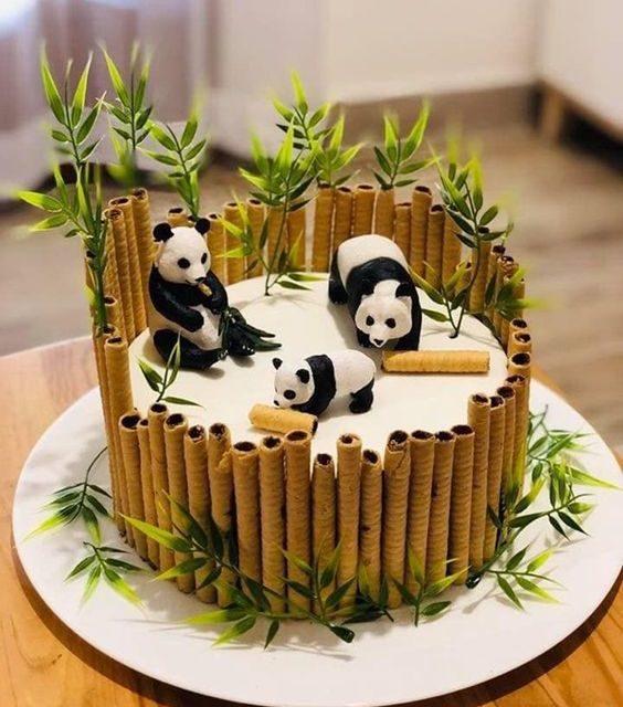 Decoraciones de Tarta de osos panda