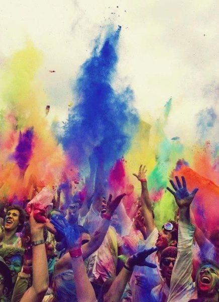 polvos holi de colores