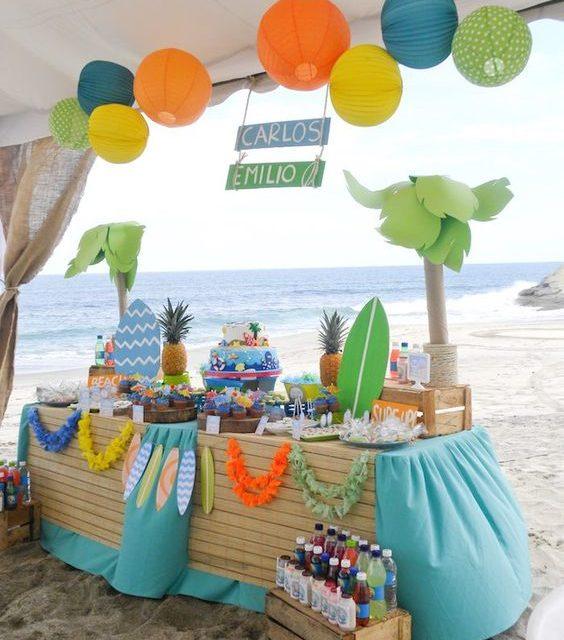 Fiesta infantil del surf