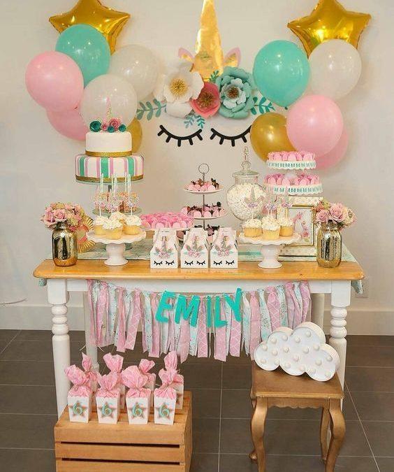Tips para preparar una fiesta temática de unicornio para niñas