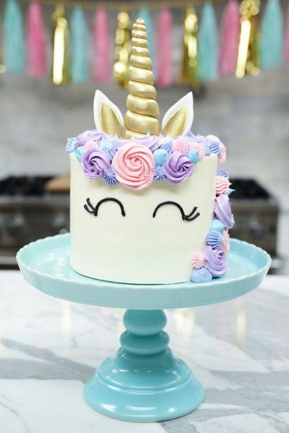 tarta unicornio fácil para cumpleaños