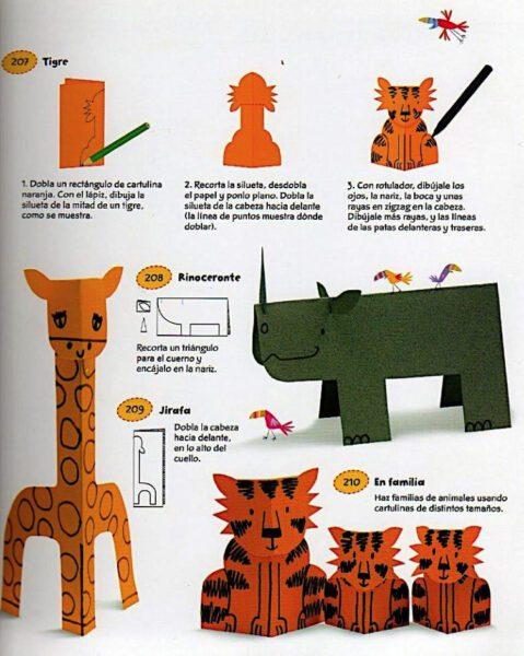 animales de cartulina