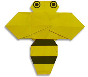 Figuras de insectos hechas con origami facil