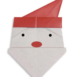Como hacer figuras de origami navideñas