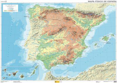 Mapa fisico gratis españa