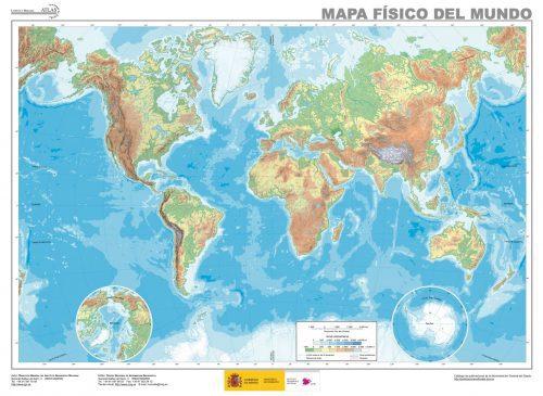 Mapa fisico del mundo