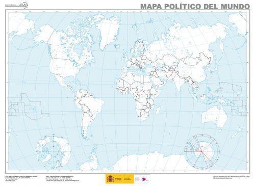 Mapa del mundo mudo
