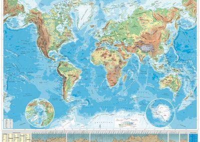 mapa del mundo fisico