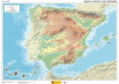 Mapa fisico. españa